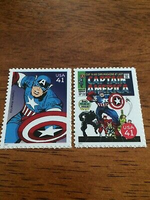 US Stamps Unused Marvel Comics Captain America Set Collect or Use as Postage
