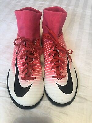 new arrival 51ac7 aadb1 NIKE MERCURIAL X Football Astro Turf Boots Kids UK Size 5 Pink and White.