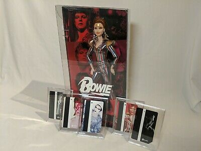 David Bowie Barbie Doll + NYC MTA Limited edition MetroCards full set! Rare HTF!