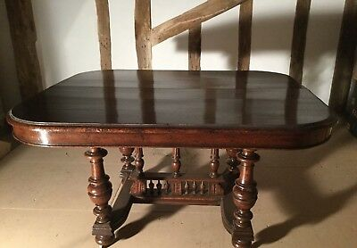 Dining Room Table - Antique French Oak Pie Crust