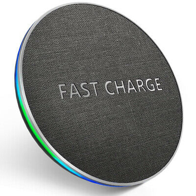 Fast Qi Wireless Charger For iPhone 8 Plus X XS MAX XR Charging Pad For Samsung