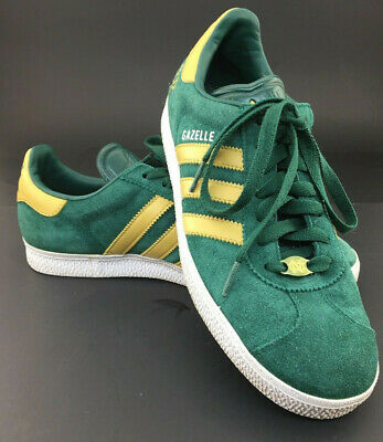 ADIDAS GAZELLE NOTRE Dame Green and Gold Shoes Mens 7.5 - $42.99 ...