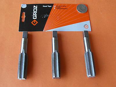 THREAD TAP SET 3Pce M20 x 2.5mmP TAPER INTER PLUG GROZ ENG. TOOLS ISO9001:2000
