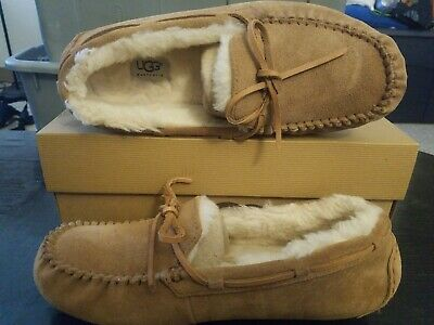 f18e656dade UGG OLSEN CHESTNUT Suede Moccasin Style Slippers Men'S Size 12 ...