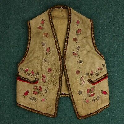 Native American Plains Indian Vest Clothing 19th Century Beaded Antique Huron