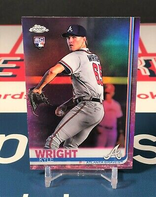 Kyle Wright 2019 Topps Chrome Pink Refractor Rookie #120 Atlanta Braves Parallel