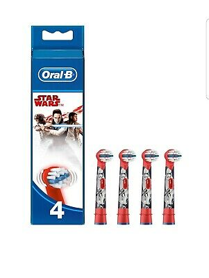 Braun Oral-B Star Wars Precision Clean Toothbrush Replacement Brush Heads x 4