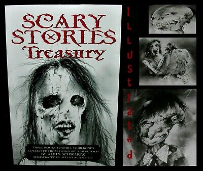Scary Stories to Tell in the Dark Treasury ~ 3 Books In 1 Volume ~ Illustrated!