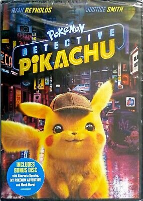 Pokemon Detective Pikachu (DVD, 2019) * Ryan Reynolds * 2-DISC SET