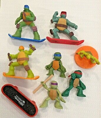Teenage Mutant Ninja Turtle Action Figures McDonalds Kids Happy Meal Lot Of 8