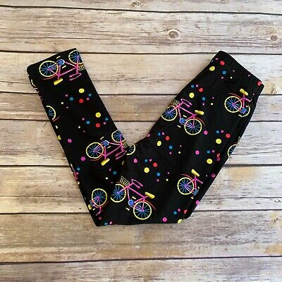 Bicycle Polka Dots Black Girl's Leggings L/XL Size 6-8 soft as LLR
