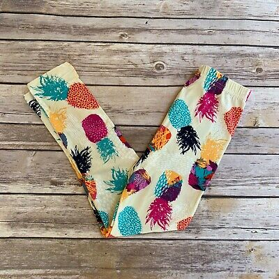 Colorful Pineapple Girl's Leggings L/XL Size 6-8 soft as LLR