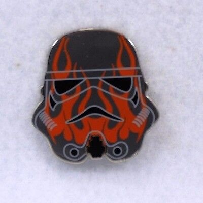 Disney Parks Pin Mystery Collection Star Wars Stormtrooper Helmet Red Flame
