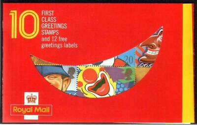 Mint 1990 Gb Royal Mail Greetings First Class Stamp Booklet