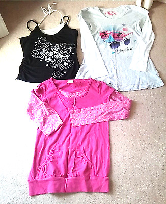 3 X Size 14 Girls Miss Understood Piping Hot Long Sleeve  Target Shoestring Top