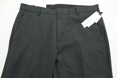 Calvin Klein Mens 30x32 Poly Casual Straight Fit Dress Pants