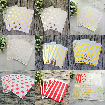 Paper Gift Shop Recyclable Stamping Wedding Candy Oil-proof Party Packing Bag
