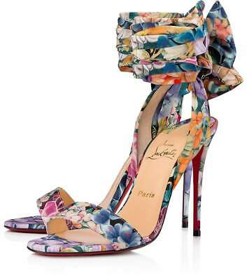 on sale 0c943 32b52 NIB CHRISTIAN LOUBOUTIN Sandale Du Desert 100 Satin Lace Up ...