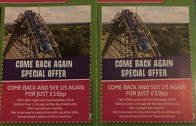 2X Light Water Valley Vouchers £18PP  Save Up To £50 - Lightwater Valley Coupons