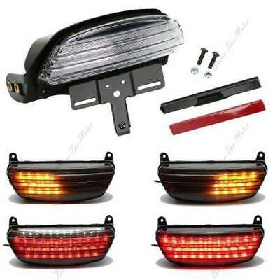 LED Tail Brake Light Bracket Motocycle Tri-Bar Fender For Harley Softail FXST