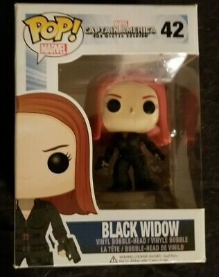 Funko Pop Marvel Captain America The Winter Soldier Black Widow #42 Vinyl Figure