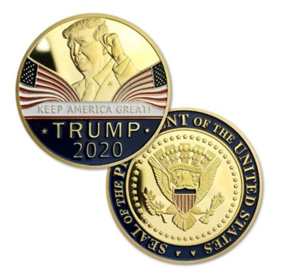 Donald Trump 2020 Keep America Great Commemorative Challenge Coin Eagle Coins UP