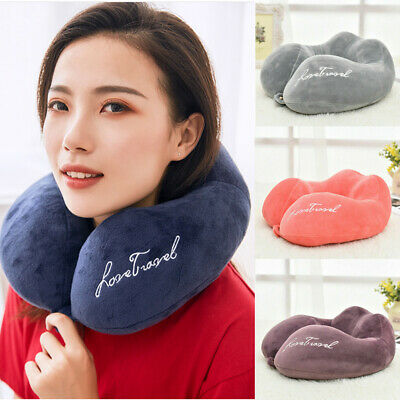 Memory Foam Rebound U -Shaped Travel Pillow Neck Support Head Rest Car Cushion