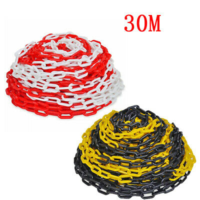 30 m Plastic Warning Chain Warehouse Caution Safety Barrier Road Warning Block