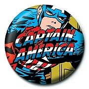 Marvel Comics Retro Captain America Logo Official 25mm Colourful Button Pin Badg