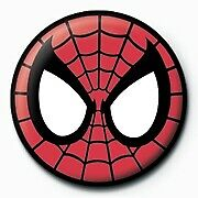 Marvel Comics Spider-Man Eyes Icon Logo Avengers Official 25mm Button Pin Badge