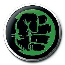 Marvel Comics Retro Hulk Green Fist Avengers Official 25mm Button Pin Badge