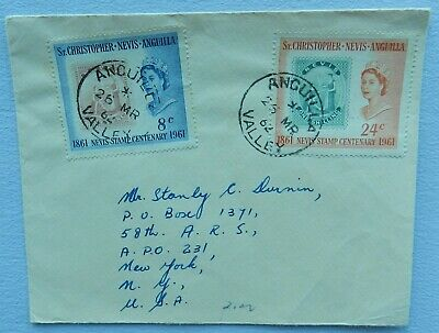 St Christopher Nevis Anguilla  Cover  stamps 1961, postage mark 1962