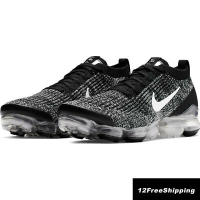 NIKE AIR VaporMax Flyknit 3 2019 Men Grey Running Trainers Shoes 100% Authentic
