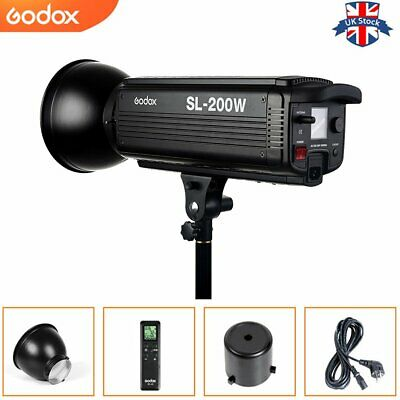 UK Godox SL-200W 200Ws 5600K Studio LED Continuous Video Light Lamp With Remote