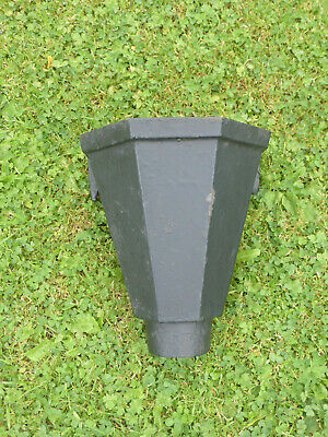 Vintage Cast Iron Hopper Head with Fixing Lugs, ideal to use or as a planter!