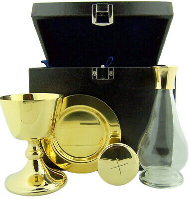 Chalice Paten Pyx Holy Water Bottle Carrying Case Minister Travel Mass Kit
