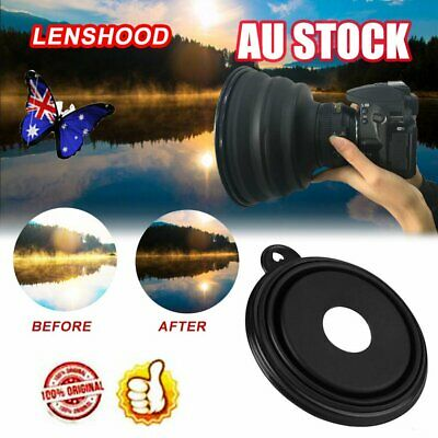Flexible Telescopic Lens Hood Removing Glares By Day And Reflections By Night NW