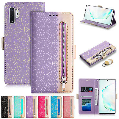 For Samsung Note 10 Plus S10 S8 S9 7 Phone Case Leather Flip Wallet Zipper Cover