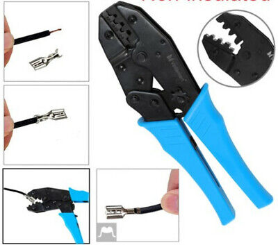 Insulated Ratcheting Terminals Crimper Kit Ferrule Wire Plier Crimping Tool