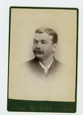 Vintage Cabinet Card Thomas Dolan Sayre Gerhard Photo Keokuk Iowa