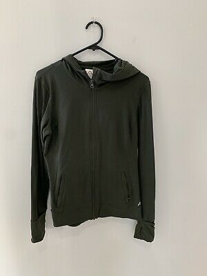 Rockwear Khaki Active Jacket With Hoodie, Finger Holes And Mittons Size 12