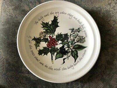 Portmeirion The Holly & The Ivy Plate New 10.5""