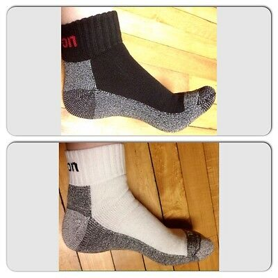 6 Pairs Black & 6 Pairs White Men's Snap On Ankle Socks L ~ FREE Shipping ~New!