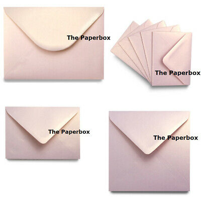 Rose Gold Dust Pearlescent Envelopes, Luxury quality - choice of size & quantity