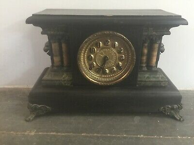 Antique American Mantel Clock may be Sessions, Gilbert working order