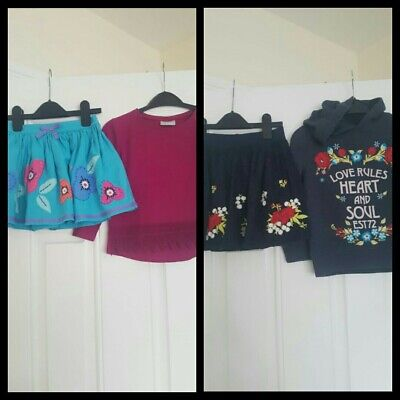 Girls outfits Bundle M&S Skirt,Matalan Top and F&F Set 5-6 Years