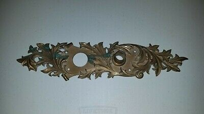 Antique French Empire & Louis XV Style Finely Cast Brass Door Escutcheon Plate