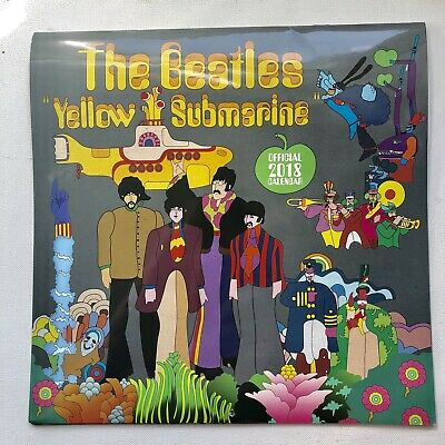 The Beatles Official Calendar 2018 Yellow Submarine Square Wall Format