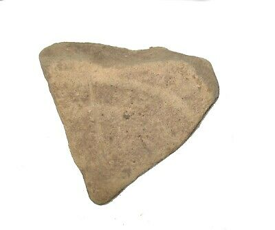 Roman Empire pottery shard piece in display case. Good large example #7