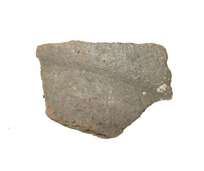 Roman Empire pottery shard piece in display case. Good large example #9